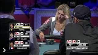 Смотреть онлайн Девушка выиграла сложную раздачу в покере