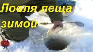 Смотреть онлайн Зимняя рыбалка, ловим леща