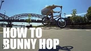 Обучение полезному трюку банни хоп на велосипеде - Видео онлайн