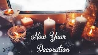 Смотреть онлайн Как декорировать свечи на Новый год, идеи по украшению дома