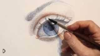 Смотреть онлайн Как нарисовать глаз акварелью