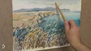 Смотреть онлайн Рисуем акварелью крымский пейзаж