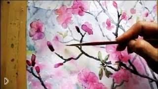 Идея простого рисунка акварелью - Видео онлайн
