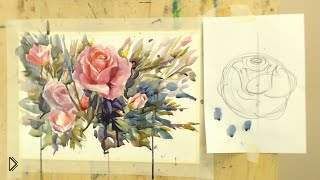 Смотреть онлайн Урок рисования акварелью для новичков подробный