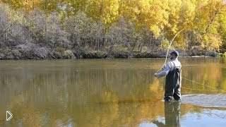 Смотреть онлайн Осенняя рыбалка нахлыстом