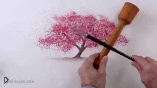 Гениальный способ нарисовать листья акварелью - Видео онлайн