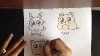 Смотреть онлайн Как нарисовать животных в стиле чиби