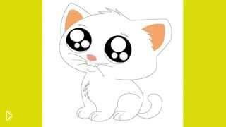 Смотреть онлайн Как нарисовать чиби кошку (кота) поэтапно