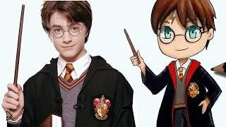 Смотреть онлайн Как нарисовать Гарри Поттера чиби поэтапно