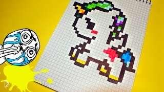 Смотреть онлайн Как нарисовать единорога в тетрадке в клеточку