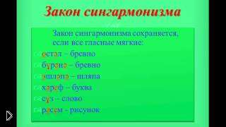 Смотреть онлайн Третий урок татарского языка: Законы сингармонизма