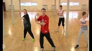 Смотреть онлайн Хип Хоп танец урок для новичков на дому