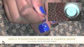 Смотреть онлайн Как сделать красивый рисунок на ногтях ног