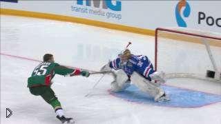 Смотреть онлайн Очень красивый буллит в хоккее