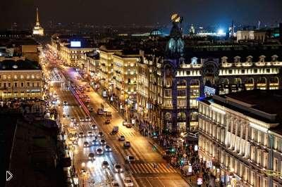 Смотреть онлайн Прямая трансляция Невского проспекта в Питере