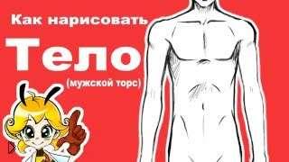 Смотреть онлайн Как поэтапно нарисовать тело аниме парня