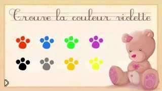 Смотреть онлайн Цвета и их произношения на французском языке