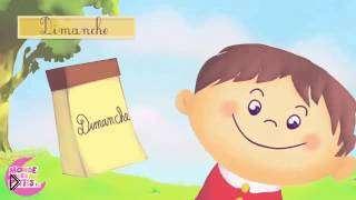 Смотреть онлайн Дни недели и их произношение на французском языке