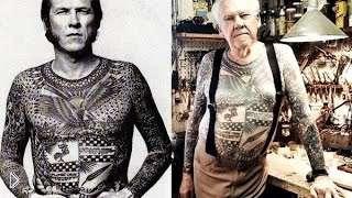 Смотреть онлайн Как выглядит тату в старости на теле