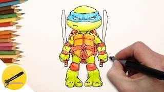 Смотреть онлайн Как нарисовать чиби черепашки ниндзя для начинающих