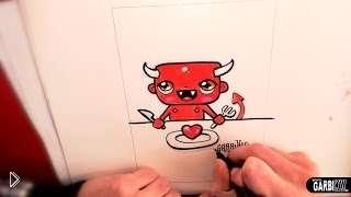 Смотреть онлайн Как нарисовать демона в стили чиби