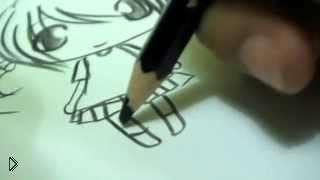 Смотреть онлайн Как легко нарисовать девочку в стиле чиби