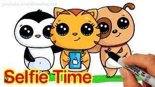 Смотреть онлайн Рисуем картинки аниме животных в стиле чиби
