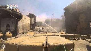 Смотреть онлайн Бои танков в Сирии