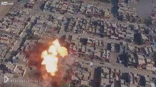 Смотреть онлайн Атака смертников на машине в Сирии
