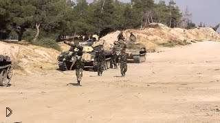 Смотреть онлайн Наступление правительственной армии Асада в Сирии