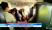 Смотреть онлайн Пассажир снимает падение самолета в котором летит