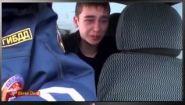 Смотреть онлайн Школьник разбил машину отца и плачет
