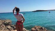 Смотреть онлайн Пляж Нисси Бич на Кипре в Айя-Напе