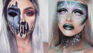 Смотреть онлайн Интересные идеи для макияжа на Хеллоуин