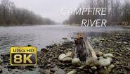 Смотреть онлайн Горит костер возле реки (8К)