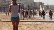 Смотреть онлайн Как выглядит пляж Агадира в Марокко