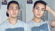 Смотреть онлайн Как делают макияж мужчины в Корее