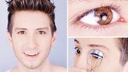 Смотреть онлайн Мужской повседневный макияж для глаз