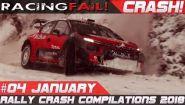 Смотреть онлайн Подборка аварий на ралли гонках, январь 2018