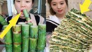 Смотреть онлайн Подборка: Азиаты едят необычную еду