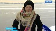 Смотреть онлайн Бабушка, которая катается на коньках по Байкалу