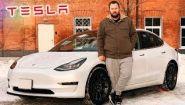Смотреть онлайн Обзор Tesla Model 3, 2018 год