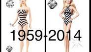 Смотреть онлайн Как менялось лицо куклы Барби с годами