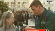 Смотреть онлайн Русская женщина пристала к зарубежному корреспонденту